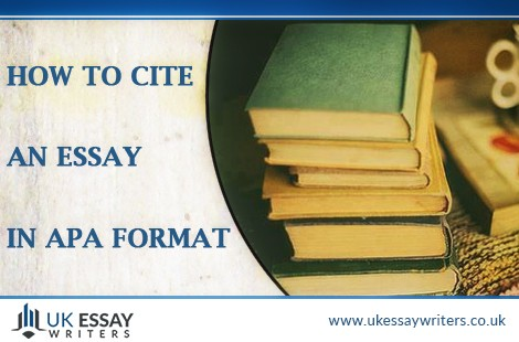 How To Cite An Essay In APA Format